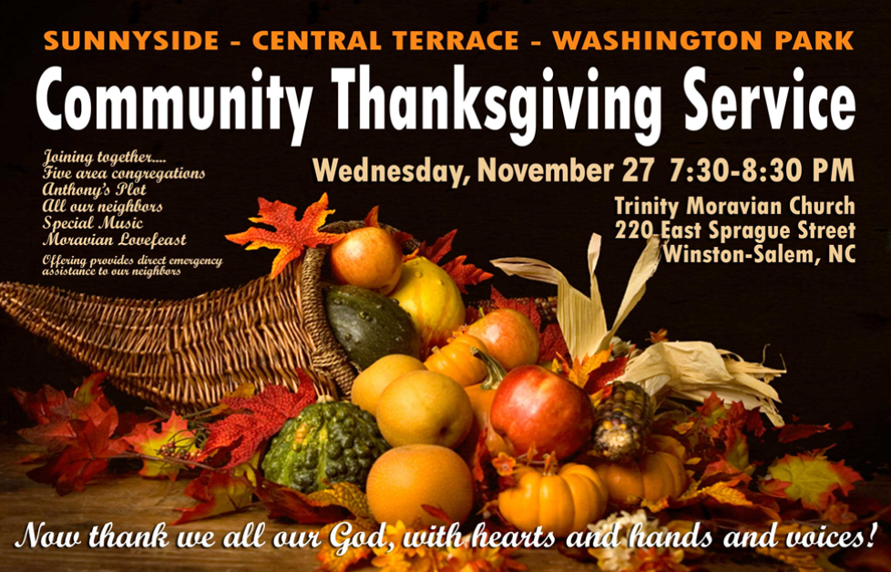 Thanksgiving Eve Lovefeast