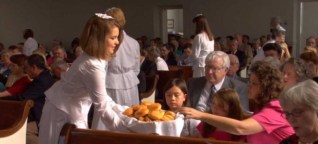 Serving Buns at Moravian Lovefeast - photo courtesy of By Will and Deni McIntyre.