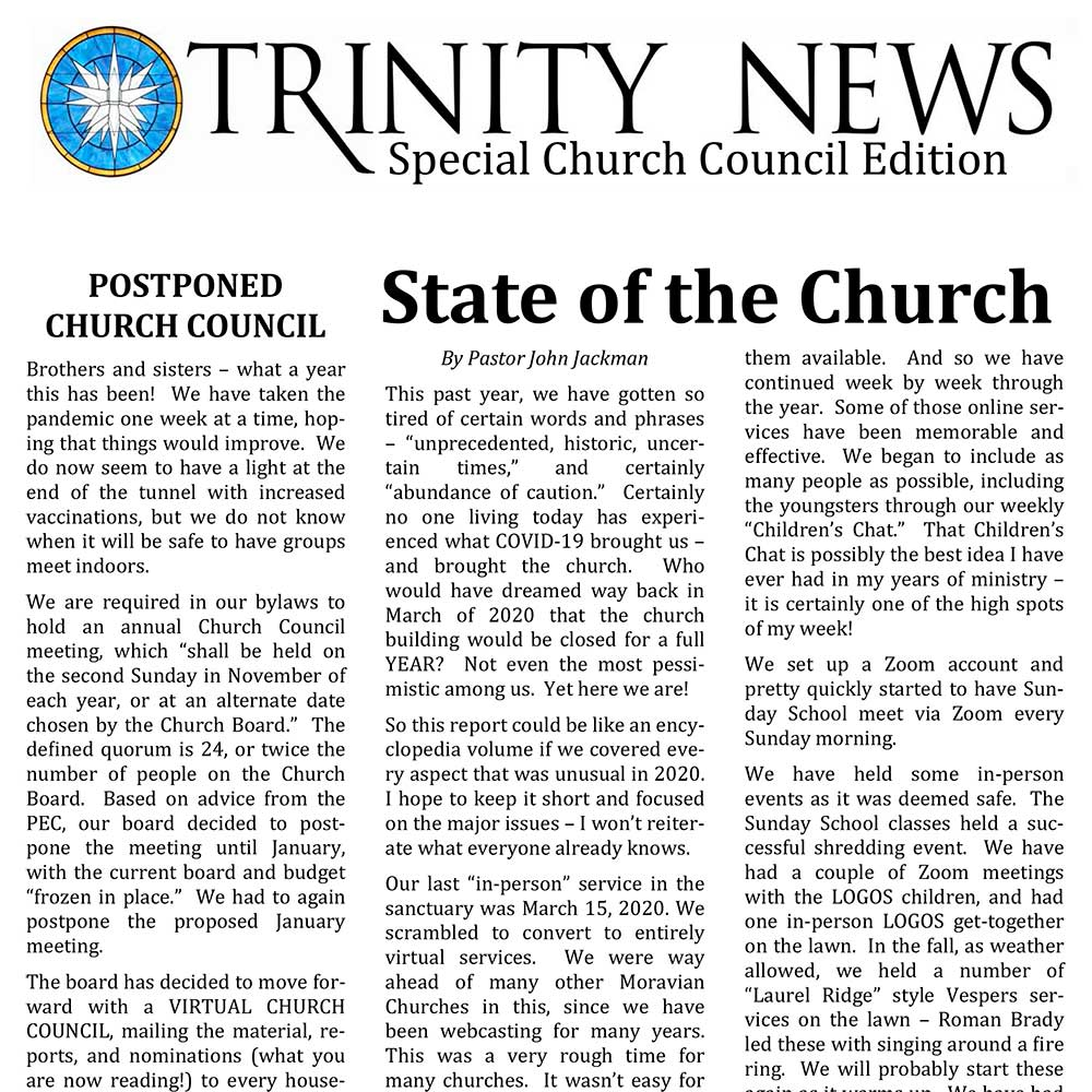 Virtual Church Council